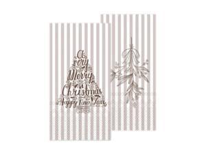 Bilde av Serviett med misteltein og juletre